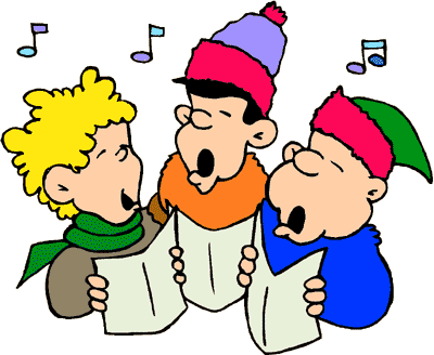 Clip Art of people caroling