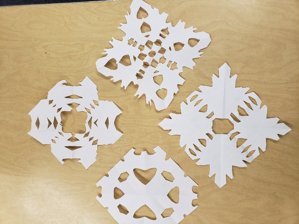2nd and 3rd Grade Snowflakes