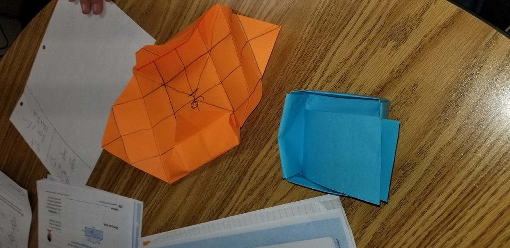 Folded paper Surface Area/Net activity.