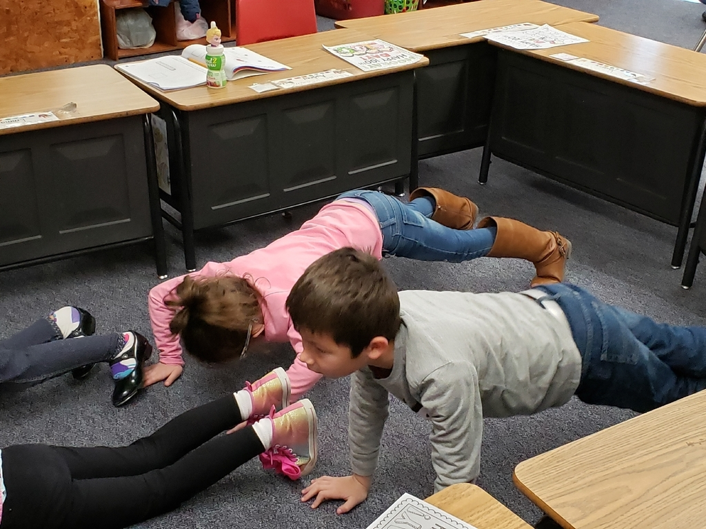 Audrey and Tyler did 10 pushups as part of 100 things they could for exercise.